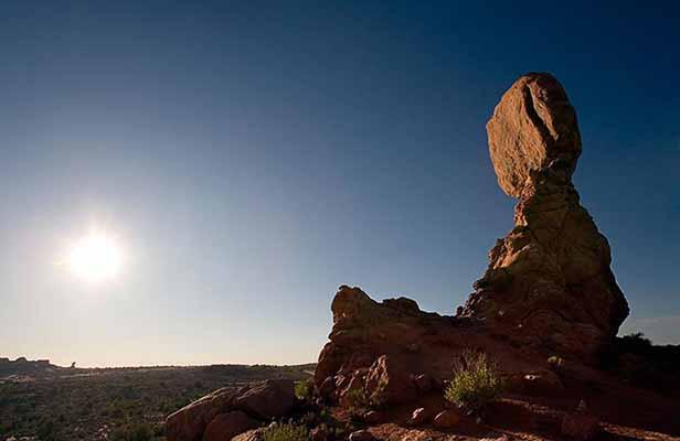 Arches National Park, Sunset, Balanced Rock, Moab, Utah
