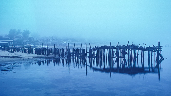 foggy morning, provincetown, cape cod