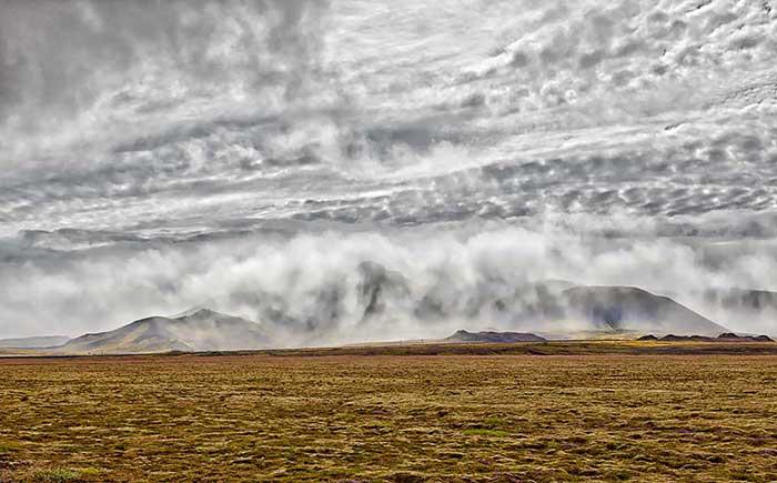 Mountains Clouds, Iceland, Reykjavik