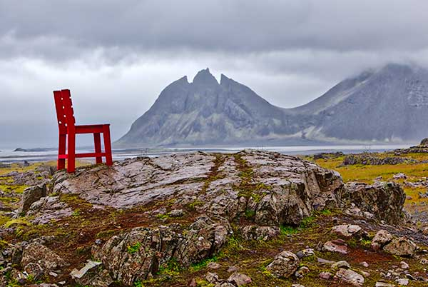 Iceland Chair, Iceland, Mountains, Fog, Ring Road, Route 1