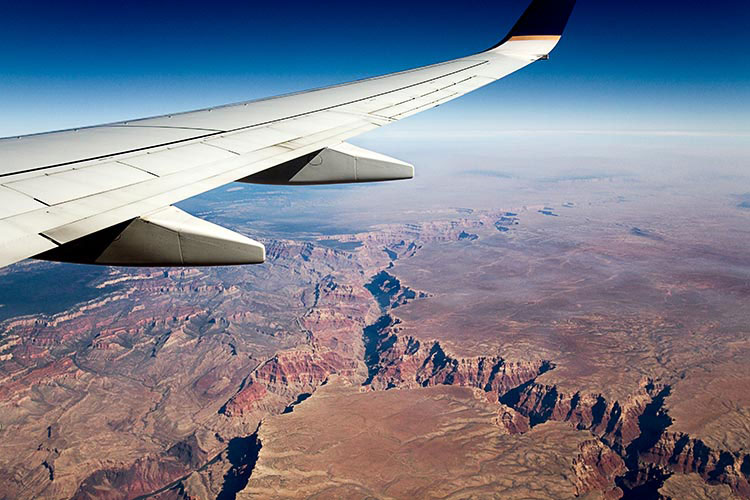 flying, jet, grand canyon