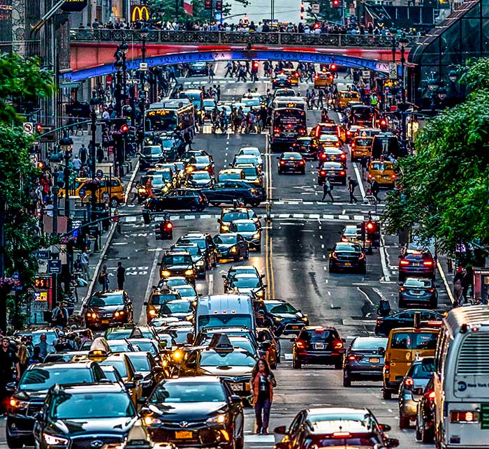 Gridlock in Gotham, New York City, New York, Manhattan