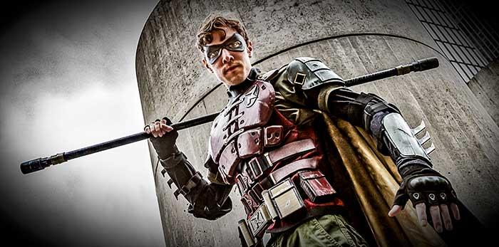 Comic Con Cosplay, Robin, Batman and Robin