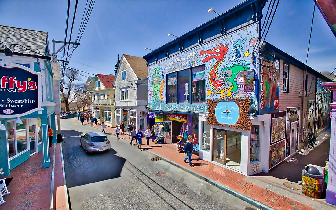 Stores on Commercial Street, Provincetown, Cape Cod