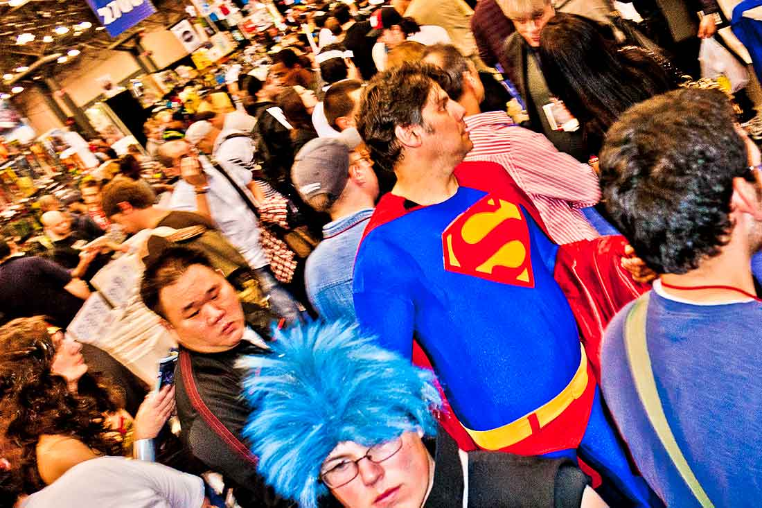Superman at the Comic Con Convention