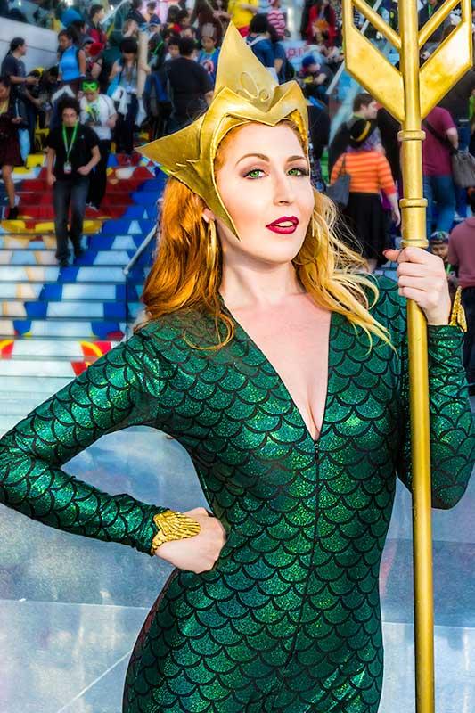 Mera at the Comic Con Convention