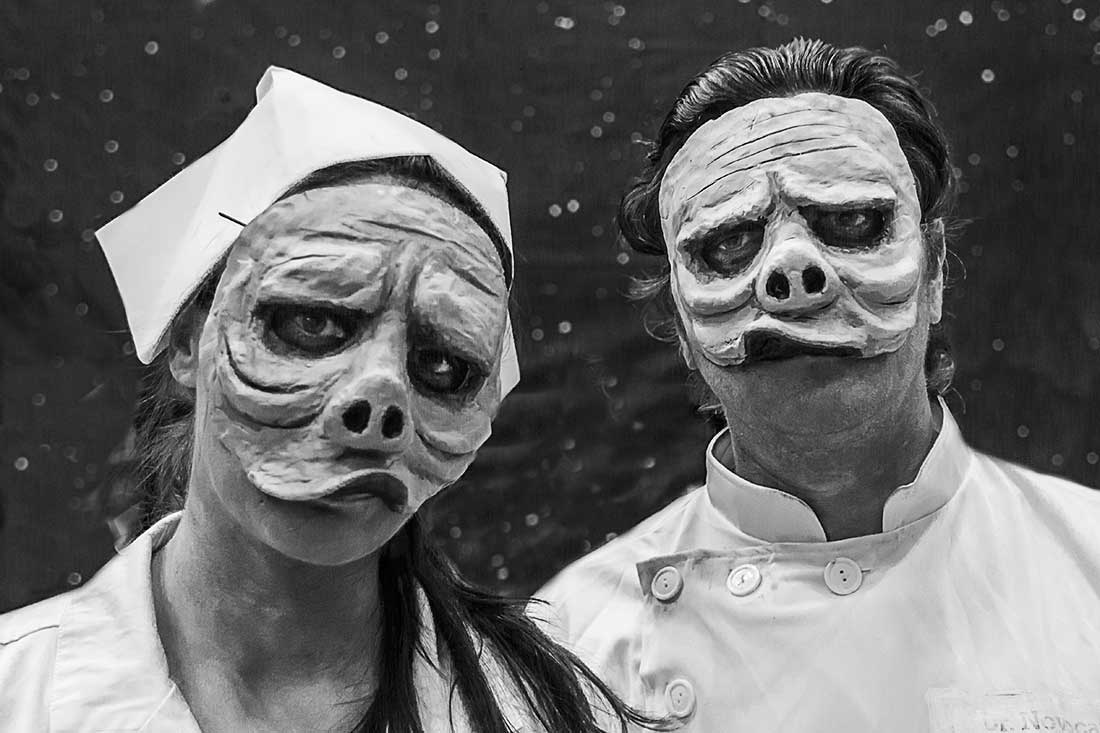 Twilight Zone characters at the Comic Con Convention