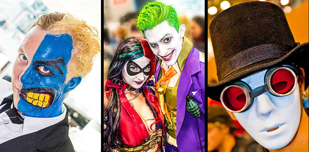 The Joker and Two Face at Comic Con Convention