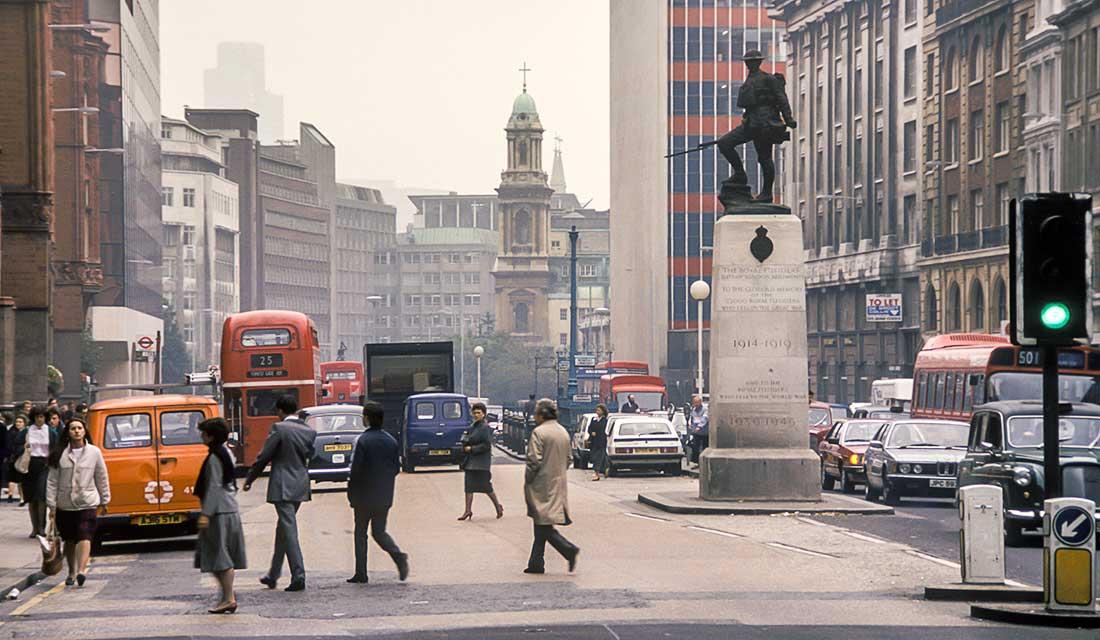 London Street in 1985.