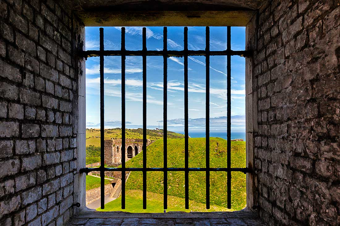 A window in Dover Castle, Dover, England.