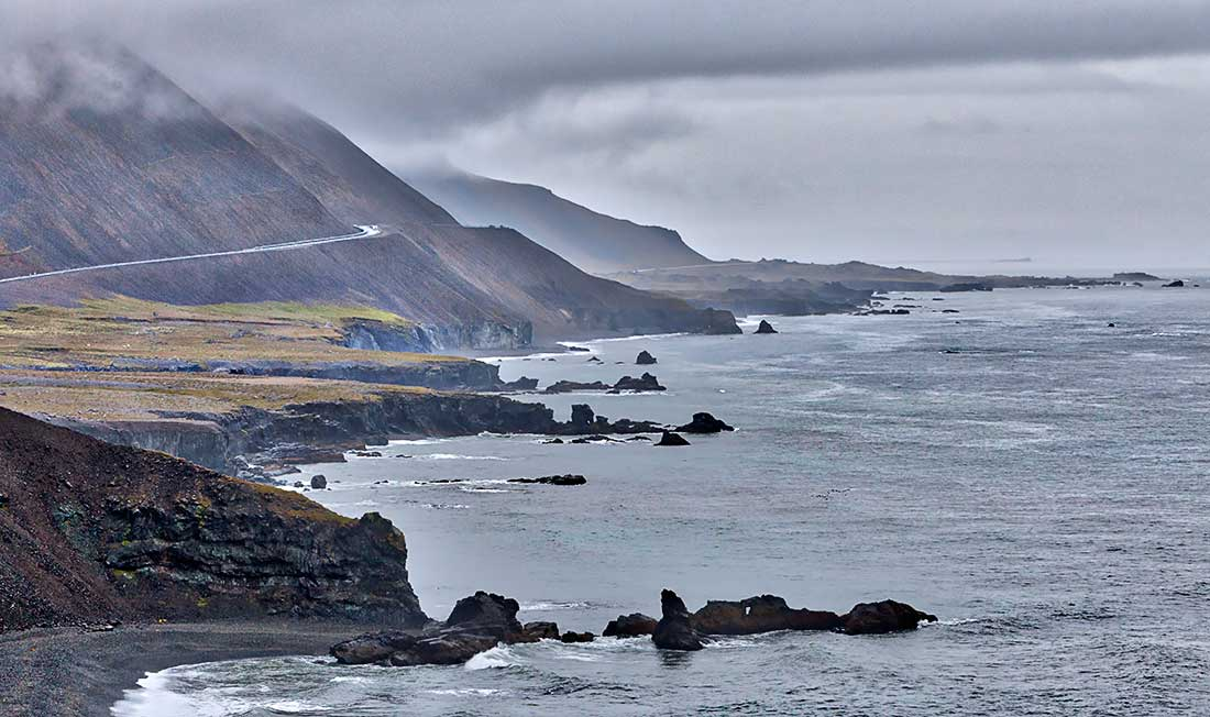 East coast and Atlantic Ocean, Iceland.
