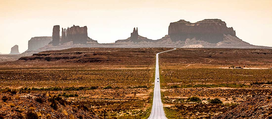 Monument Valley in Arizona.