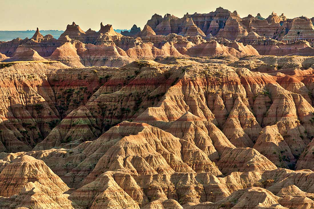 The Badlands National Park, South Dakota.