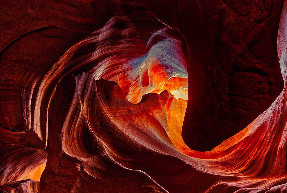The Heart in the Upper Antelope Canyon on the Navajo Nation in Arizona.
