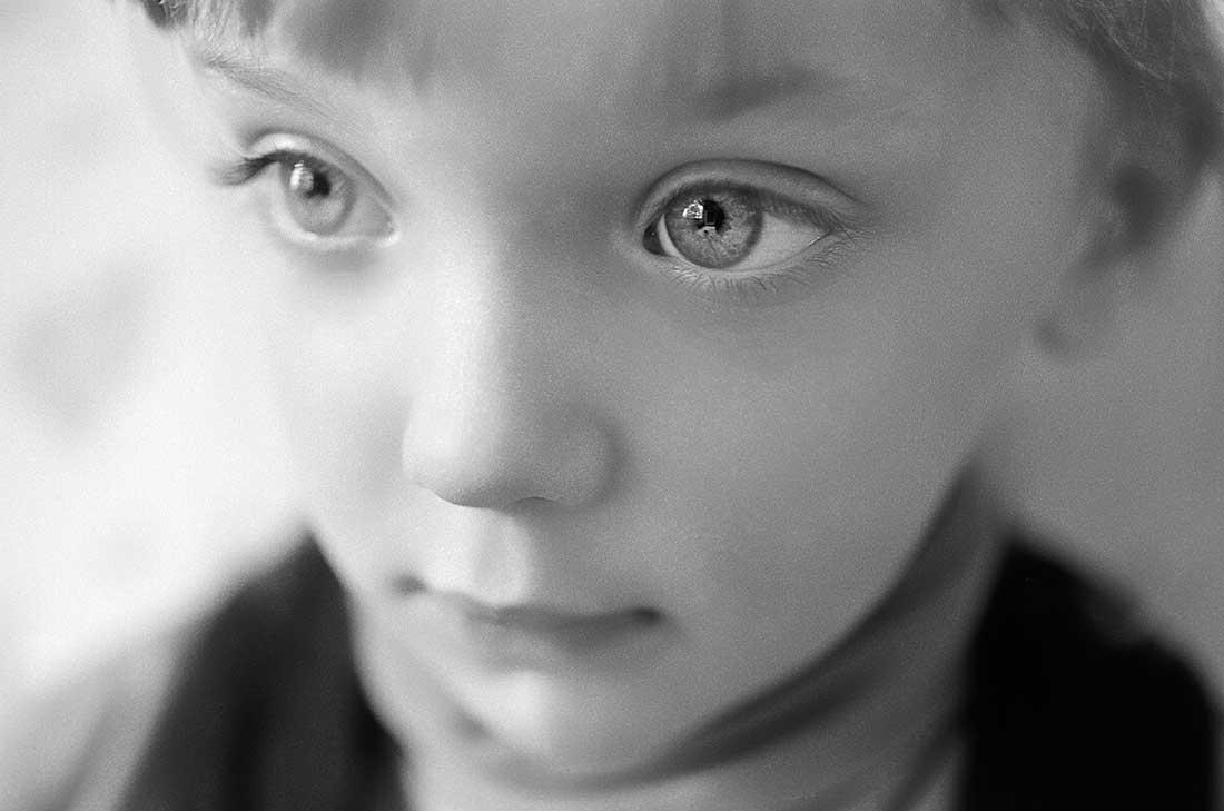 Closeup of young girl's face.