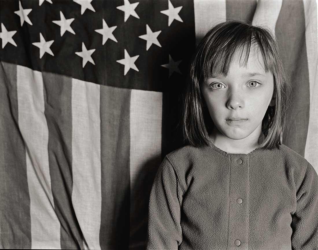 Young Girl with the Flag