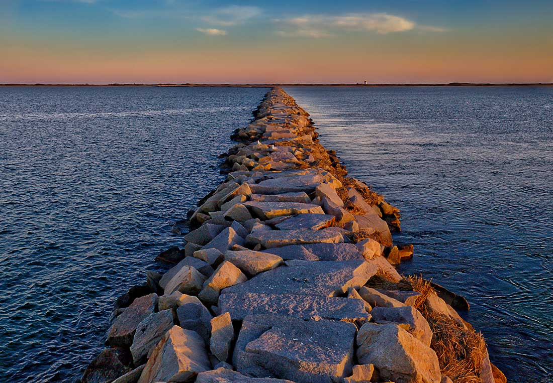 The jetty in Provincetown, Cape Cod.