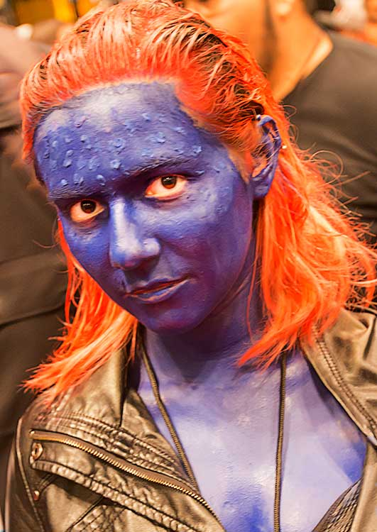 Mystique X Men at the Comic Con Convention