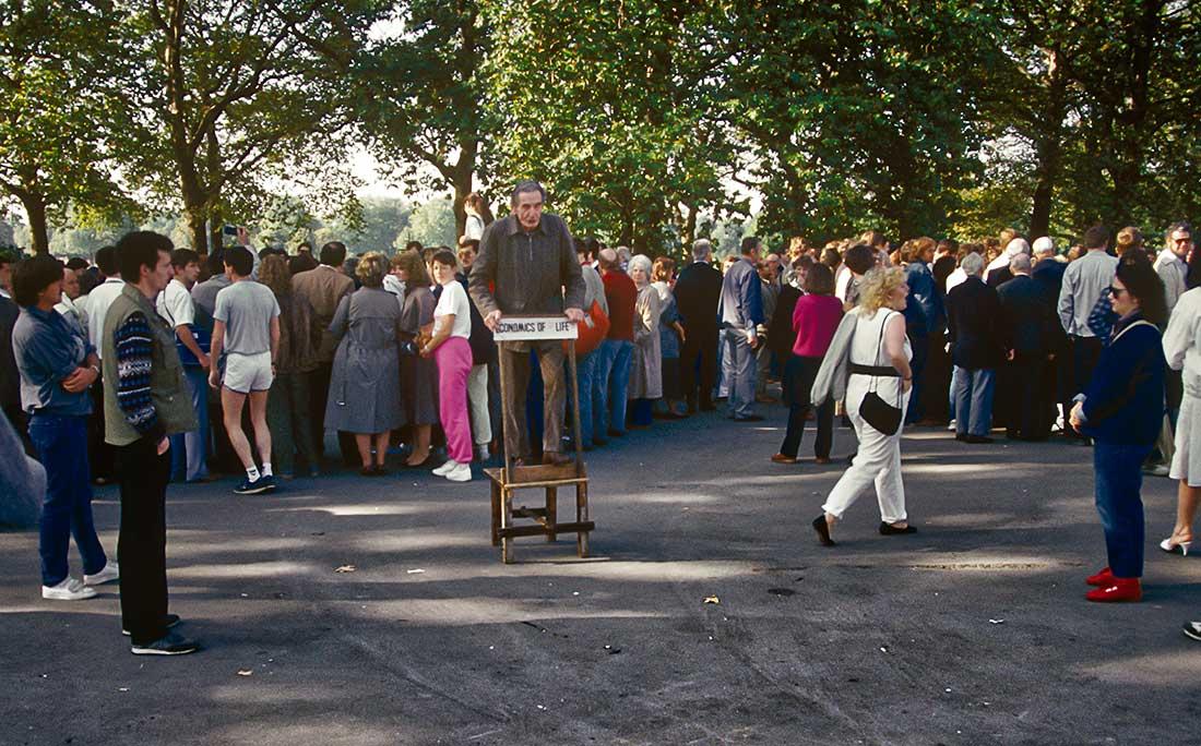 Speakers' Corner on Sunday in Hyde Park, London.