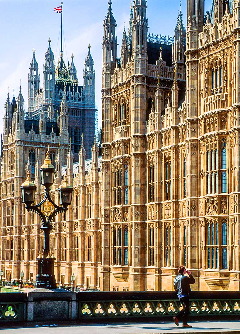 Parliament Building in London.