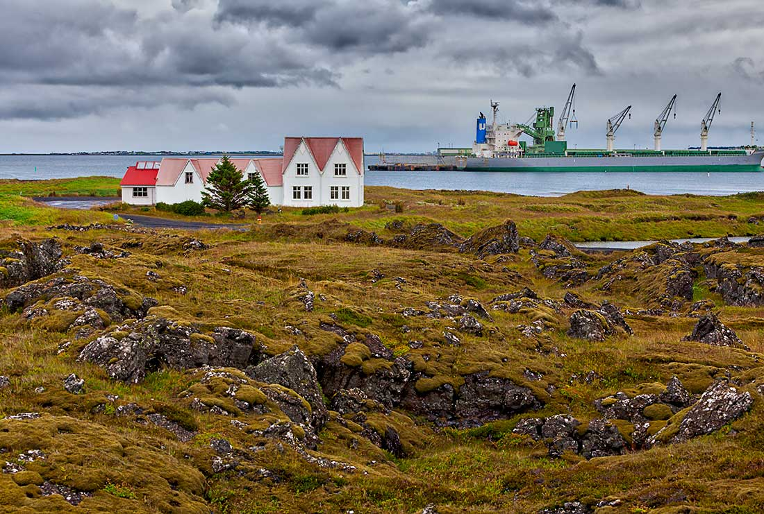 The Straumur Cultural Center in Iceland.