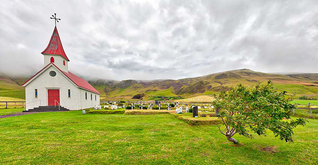 A church in Iceland.