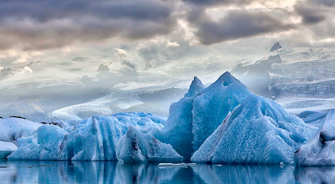 The Jokulsarlon Glacier Lagoon, Iceland.