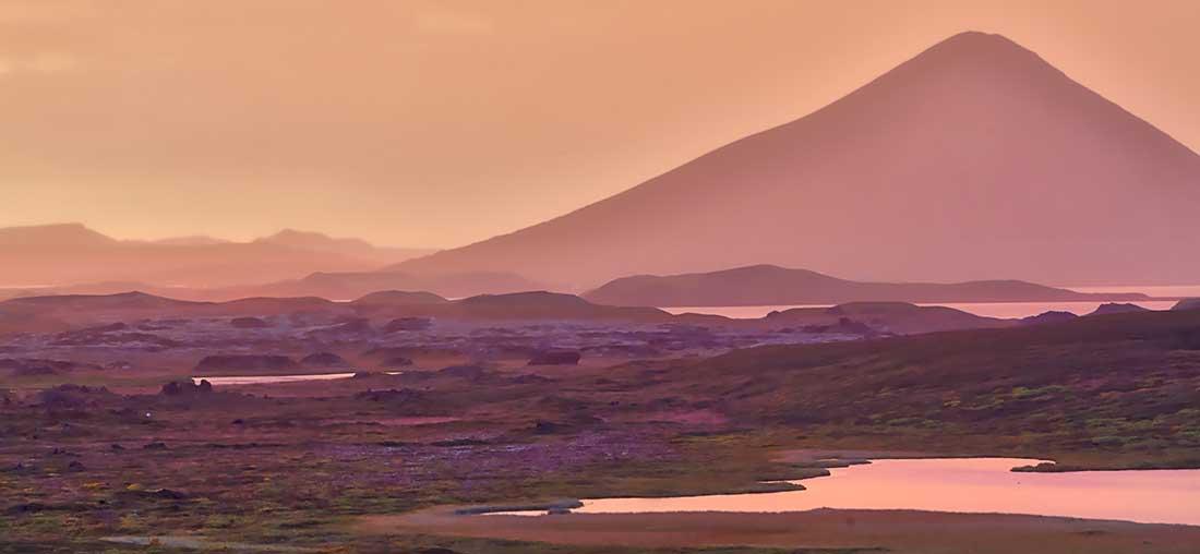Mountain by Lake Myvatn.