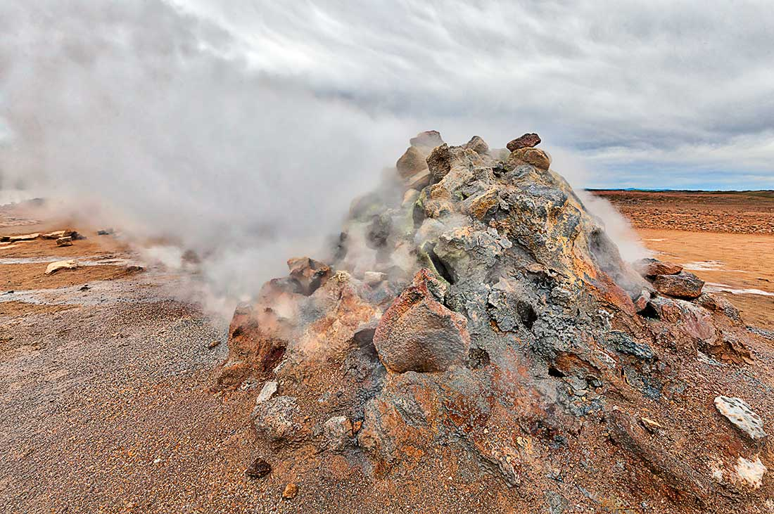 Geothermal field at Hverarond, Iceland.