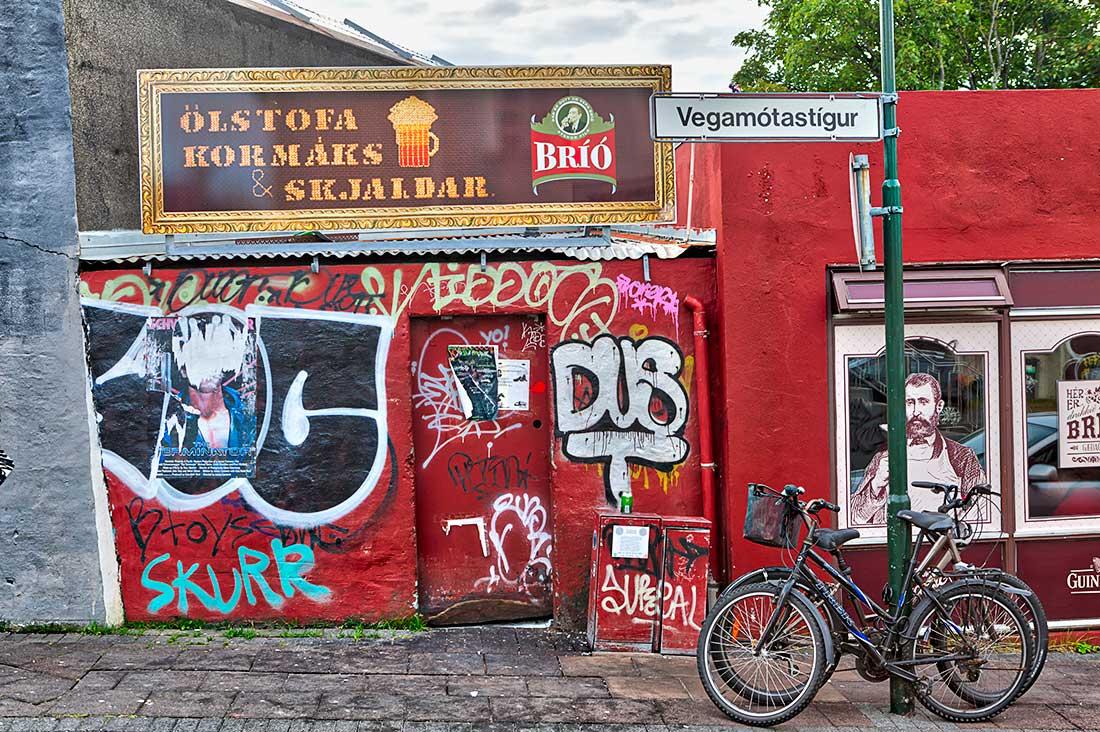 A bar in Reykjavik, Iceland.