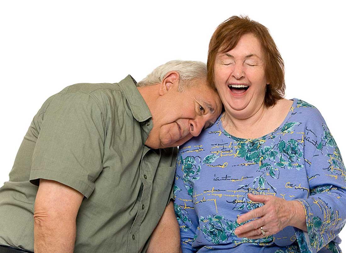 Senior Gentleman and his wife.