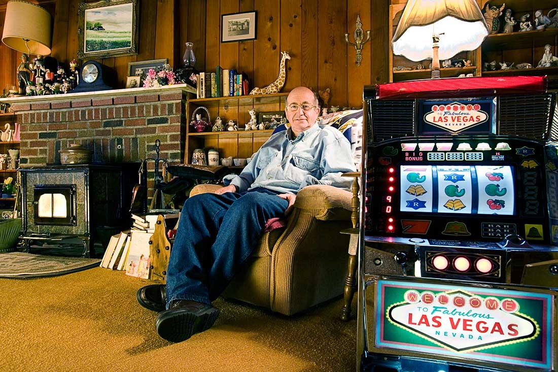 Slot Machine Gambler.