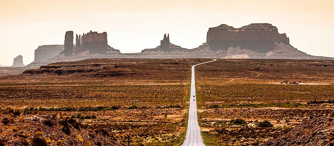 Monument Valley in Arizona.