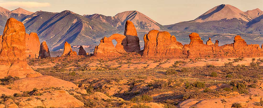 Turret Arch in Arches National Park, Utah.