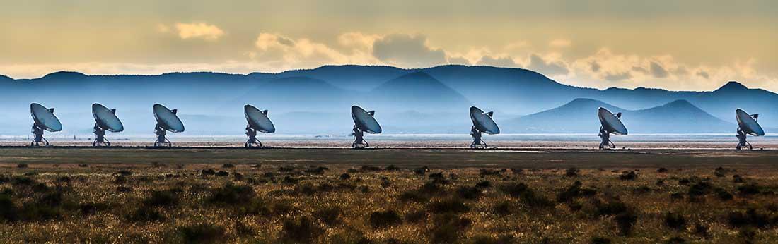 Radio Telescopes in Socorro, New Mexico.