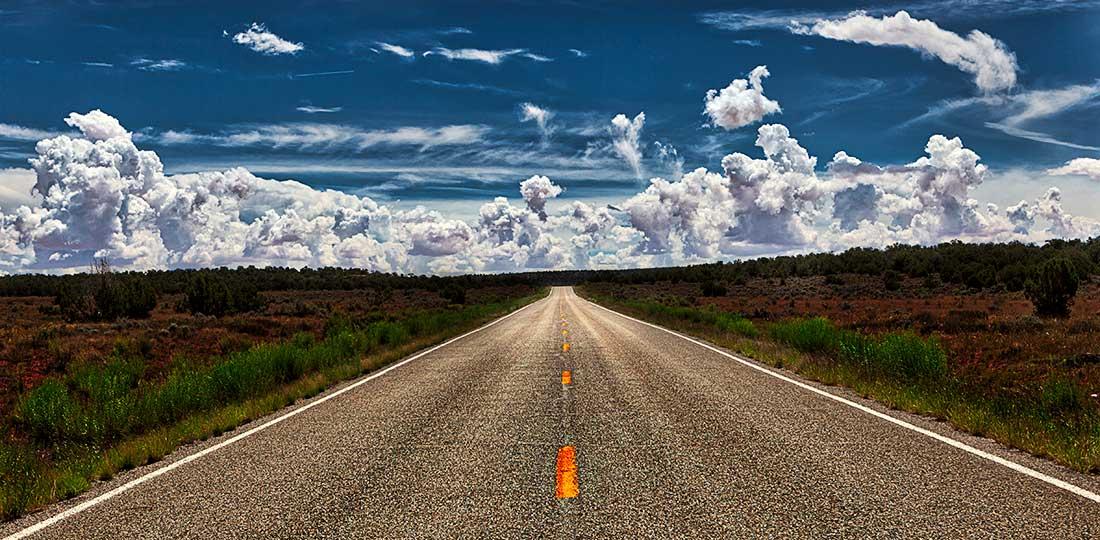 Open road in Arizona.